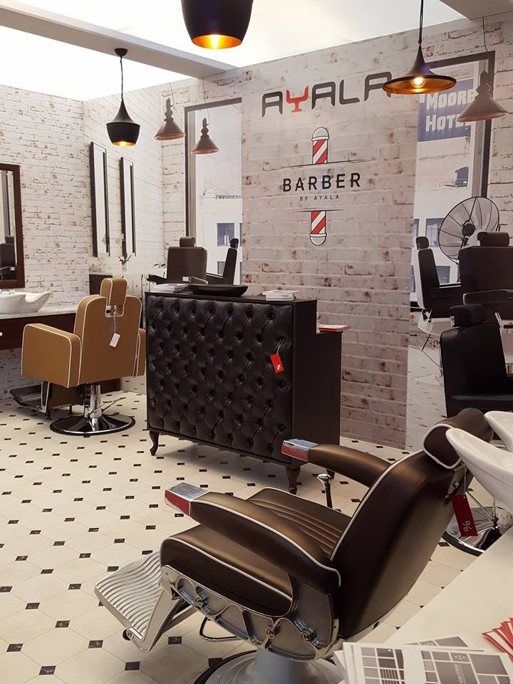 Ayala furniture stand at LOOK  2016 fair in Poznań- Poland presentation of barber chairs. #Salonideas #Salondesign #Barbershop