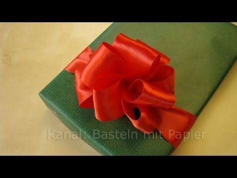 Schleife binden anleitung f r geschenkschleife sch n verpackt pinterest boucle d 39 oreille - Schleife binden youtube ...
