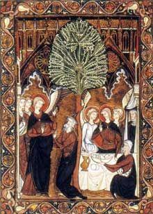 Miniature Gothique • Le psautier de Saint Louis, Abraham vers 1253