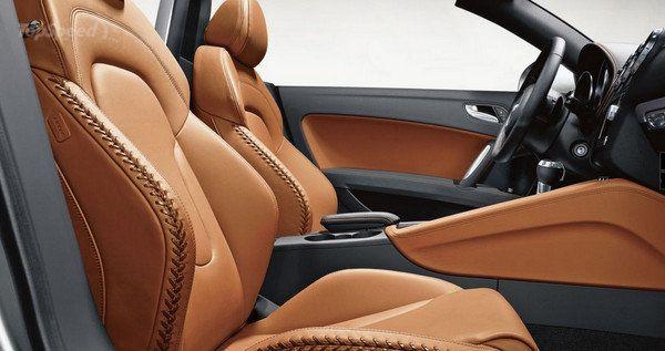 2015 Audi TT Mk3 Baseball Stitching, Light Brown Interior
