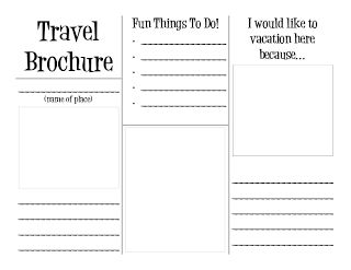 SOCIAL STUDIES: Travel Brochure template