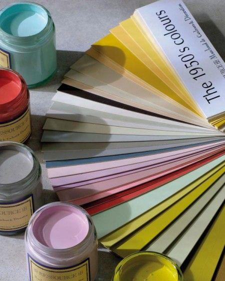 Palette de couleurs années 50 Peinture Ressource