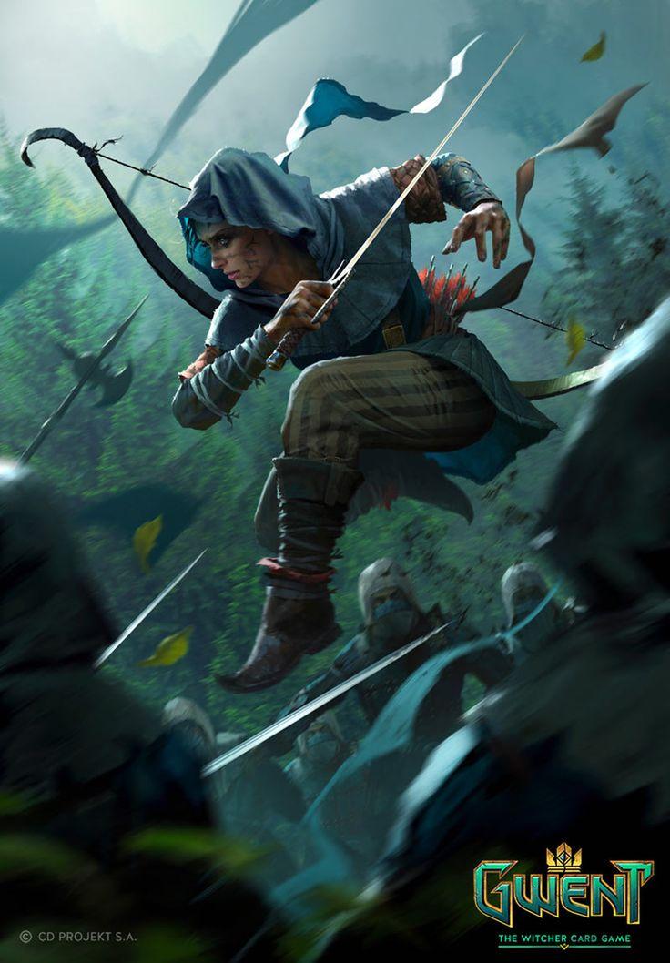 Elven Wardancer Art from Gwent: The Witcher Card Game #art #artwork #gaming #vid… – Krieger