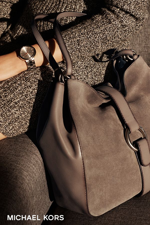 Quincy Large Suede and Leather Shoulder Bag