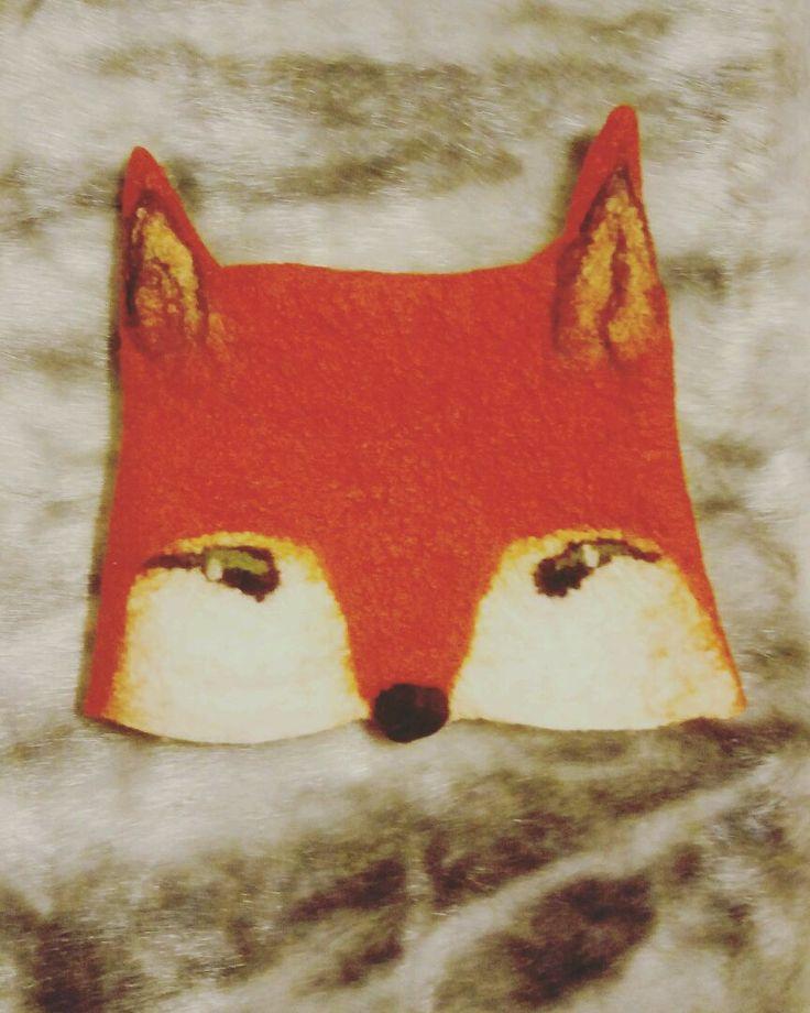 Купить Шапочка Лисёнок. Войлок - шапочка для девочки, шапочка, Лисонька, лисенок, лисошапка, зверята, войлок