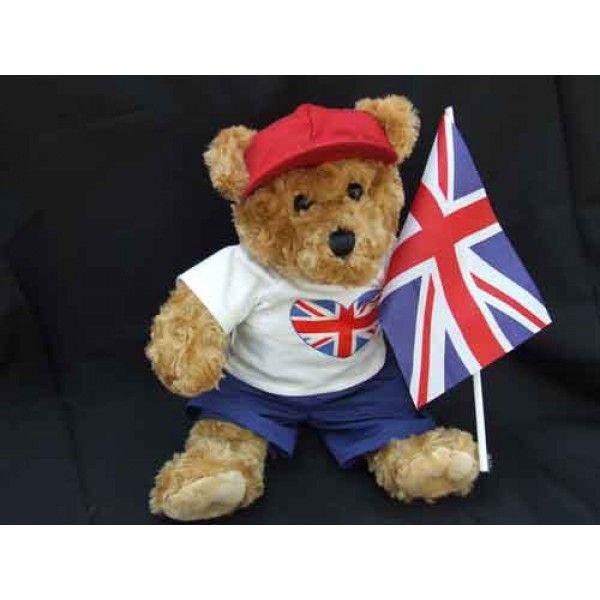 "British Celebration Bear.    Outfits & Costumes will fit 14"" - 18"" stuffed teddy bears & rag dolls plus all standard Build A Bear stuffed animals."