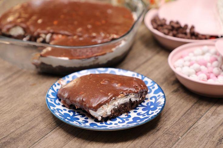 المقادير للقاعدة كيك باكيت كيك ماربل جاهز كيك الشوكولاتة باكيت جاهز القشطة علبة للطبقة الثانية جبن كريمي 8 قطع كريمة Desserts Food Brownie