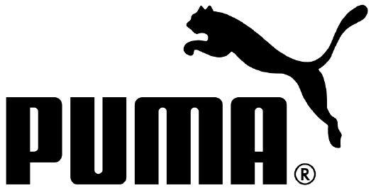 je ziet hier een logo van een sportmerk, het is in een rechthoekige vorm, en er is een zwart-wit contrast.