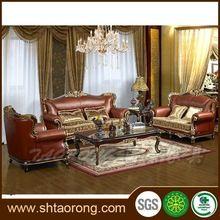 antika oturma odası deri kanepe ayarlar