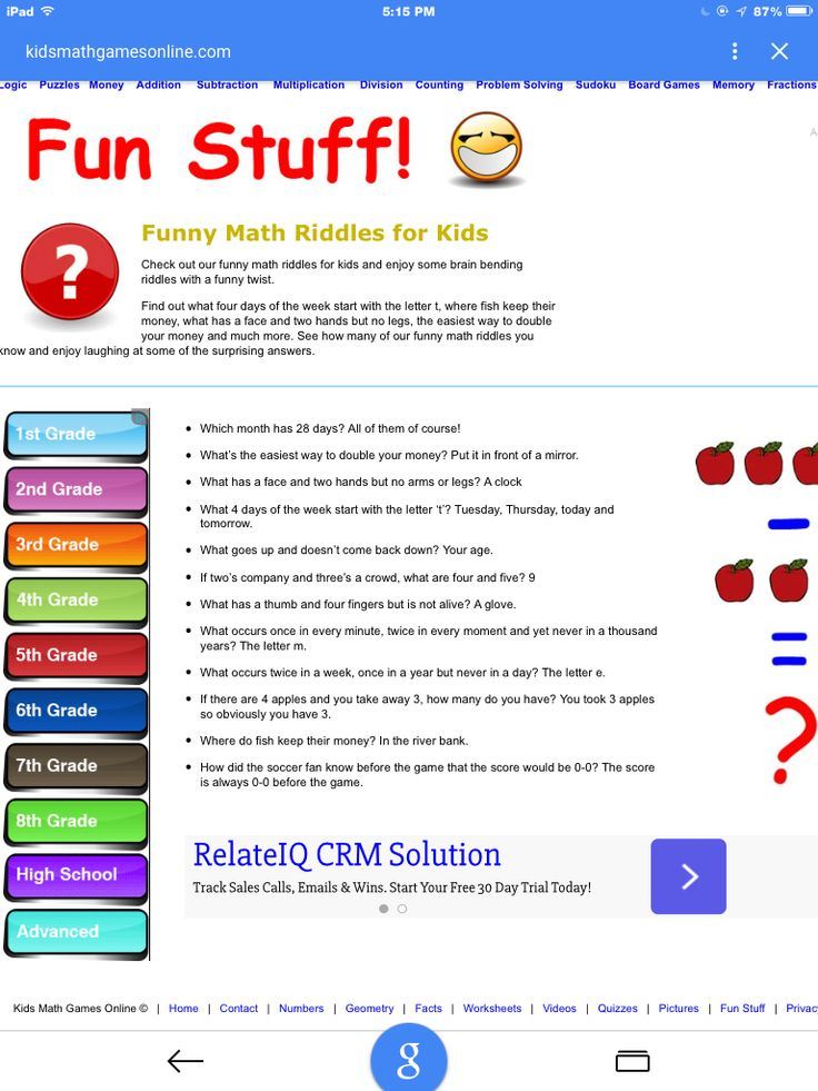 Math riddles Math riddles, Funny math riddles, Fun fractions