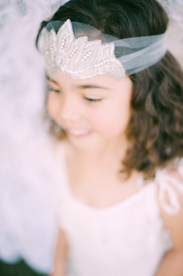 Flower girl headband. Kristi Bonnici. Photography by nggstudios.com,