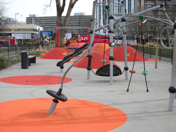 Elephant and castle playground london martha schwartz partnership 2008 playscapes