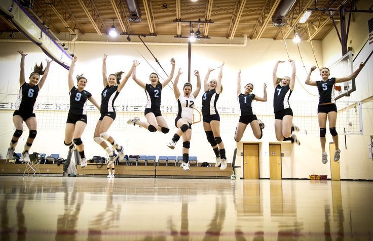 Volleyball Team Jumping In Air Fun Photo Cool Team Picture Ideas Www Imgkid Co Nevertellme Com Volleyball Photography Volleyball Team Pictures Volleyball Photos