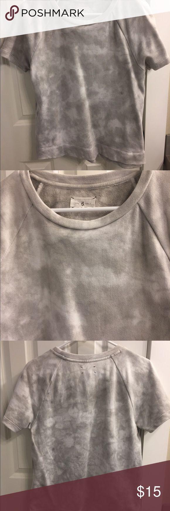 Lou&Grey short sleeve sweatshirt. Tie dye effect Lou&Grey short sleeve sweatshirt. Tie dye effect. New condition lou&grey Tops Sweatshirts & Hoodies