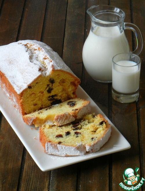Кекс с изюмом - кулинарный рецепт