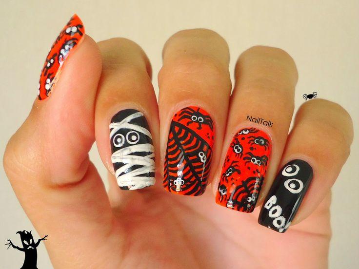 Halloween nail-art door Nailtalk.nl
