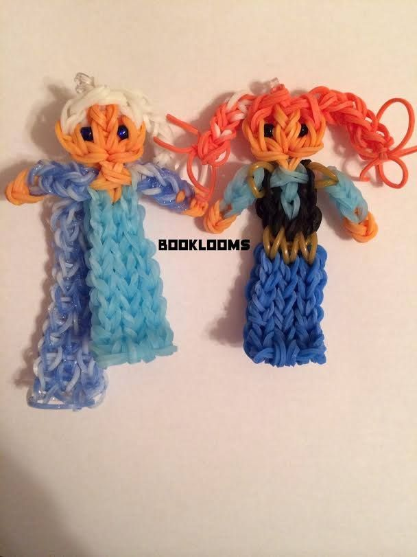 Elsa's sister ANNA from Frozen. Designed and loomed by Maria Rue Fitz for the Rainbow Loom.