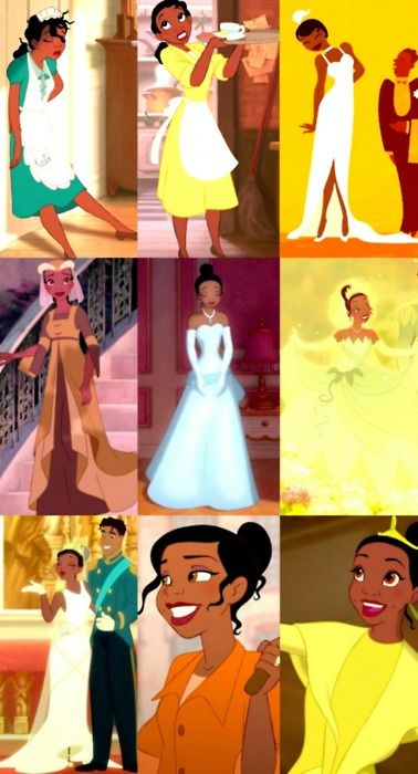 Disney 30 Pin Challenge; Pin 27: Best Wardobe; Tiana because she has the most outfits and she always looks pretty classy. Plus i love the style of this time peroid.