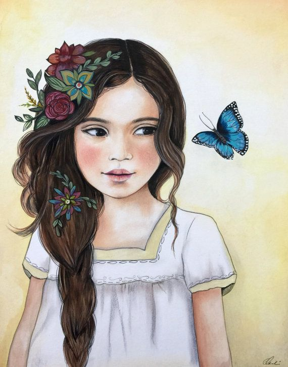 The blue butterfly por claudiatremblay en Etsy