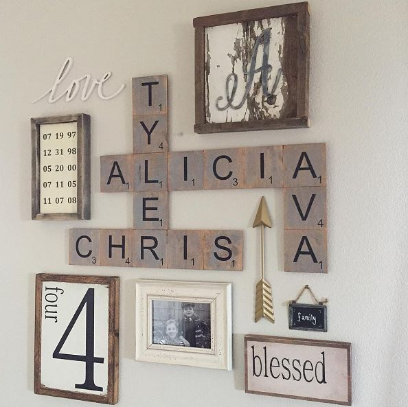 Love this idea for the family home #photocollage #wallart