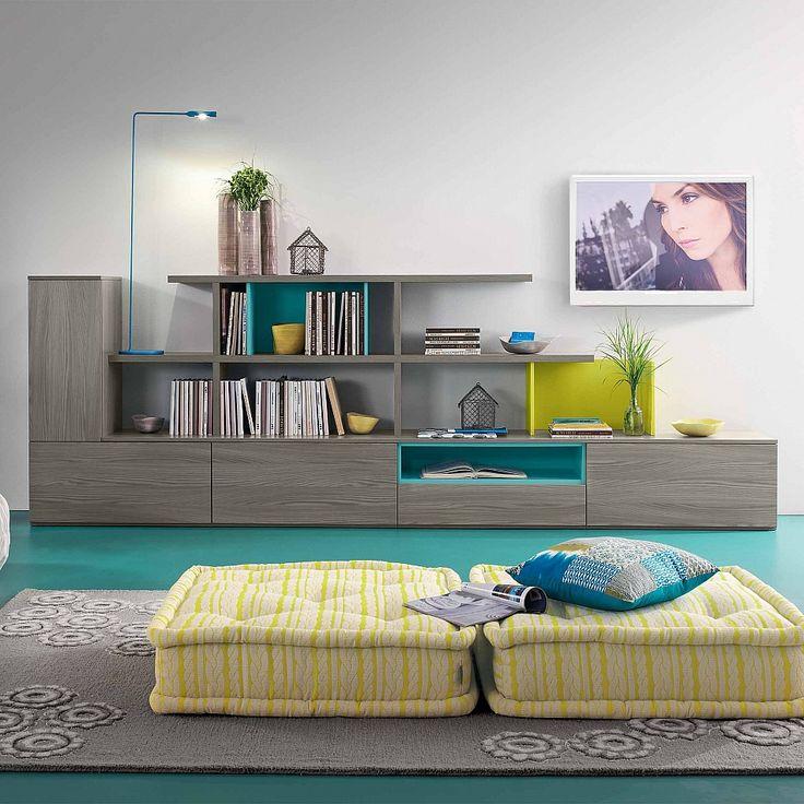 TV Unit Loto Flowers by Mobilstella. #contemporaryfurniture #livingroominterior #homeinterior #moderndesign
