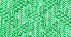 Diagonal Moss Stripe is a great textured pattern with only knit and purl stitches. Perfect for cozy blankets!
