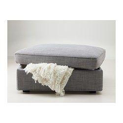 KIVIK Footstool with storage - Isunda grey - IKEA