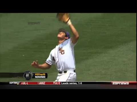 LSU Heads Up Defensive Play, 2014 SEC College Baseball Playoffs in Hoover, Alabama!