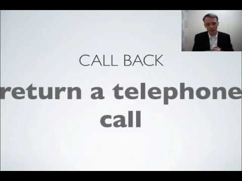 Telephone English - Basic expressions