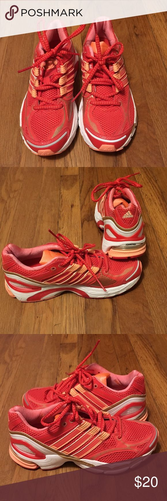 Adidas Supernova Sequence Sneaker Hot pink/coral running shoe. Hardly worn. Great condition. Adidas Shoes Sneakers