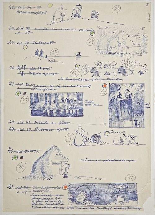 Tove Jansson Sketches #moomins