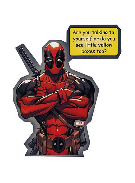 Images of deadpool yellow box sticker