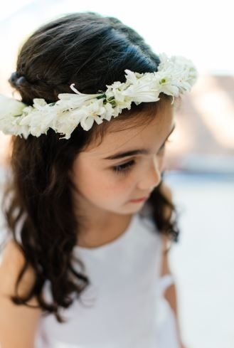 Our beautiful flower girl with her flower crown.  ~ Image Property of Darren Bester Photography