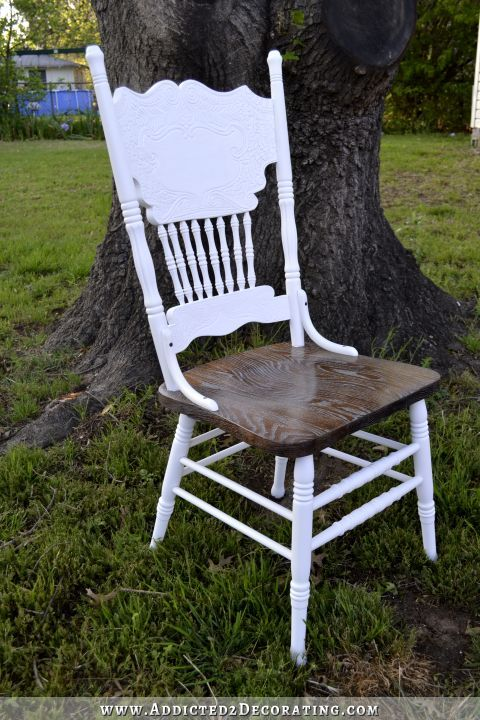 Pressback Dining Chair Makeover - cerused style