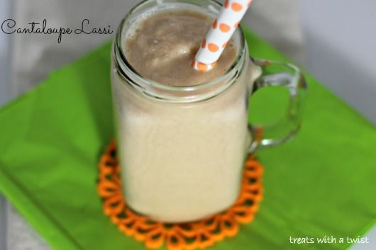 Cantaloupe Lassi - a new twist on the Indian classic!