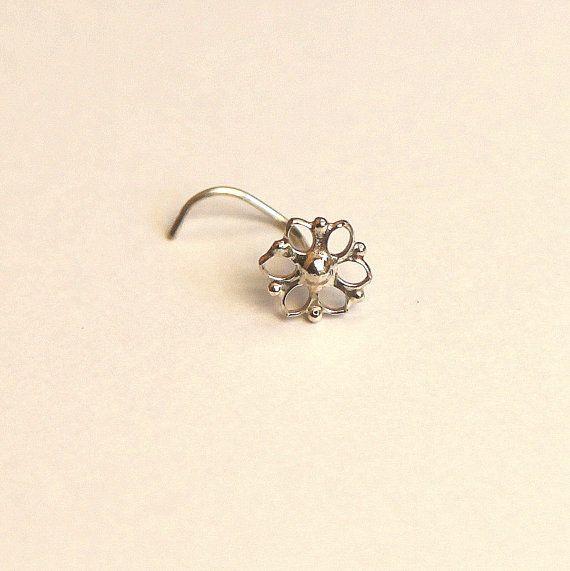 Mandala Nose stud  nose jewelry  silver nose stud  by studiolil, $54.00