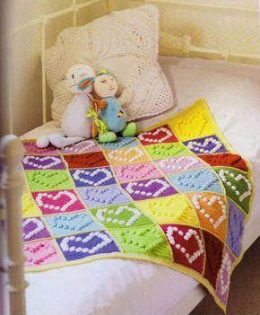Детское одеяло связанное крючком. Оригинальный детский плед из мотивов