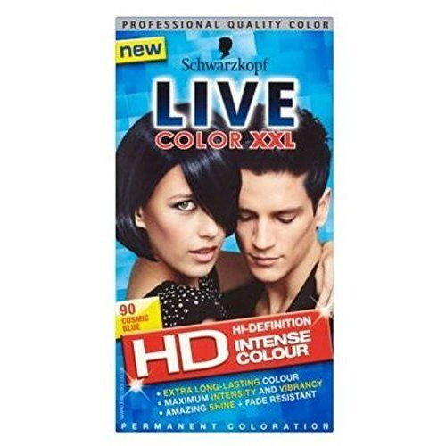 Schwarzkopf Live Color Xxl Hd 90 Cosmic Blue Permanent Blue Hair Dye *** Want additional info? Click on the image. #hairfashion