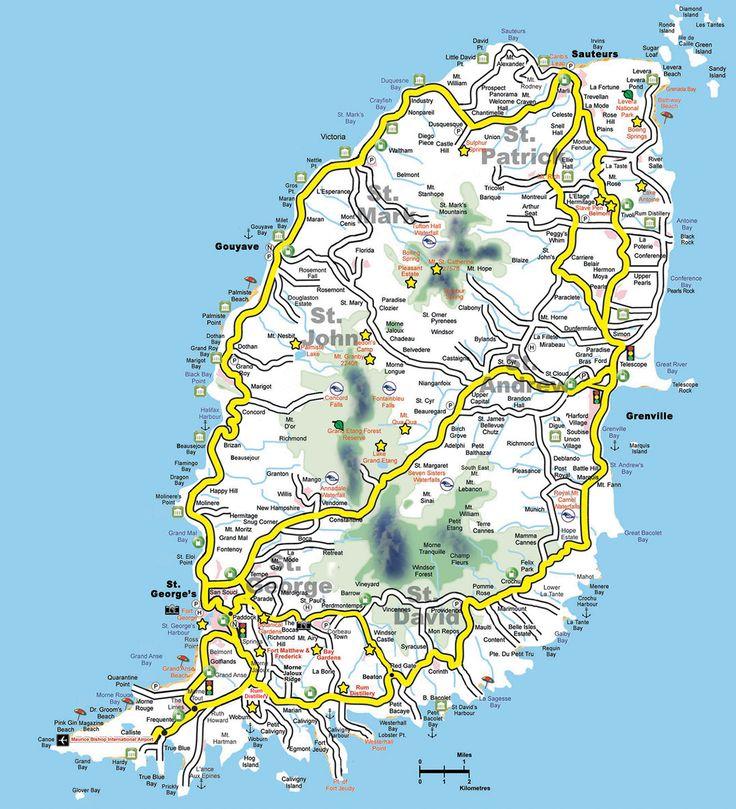 Best 25 Grenada Map Ideas On Pinterest Caribbean: Road Map Of Grenada Island At Slyspyder.com