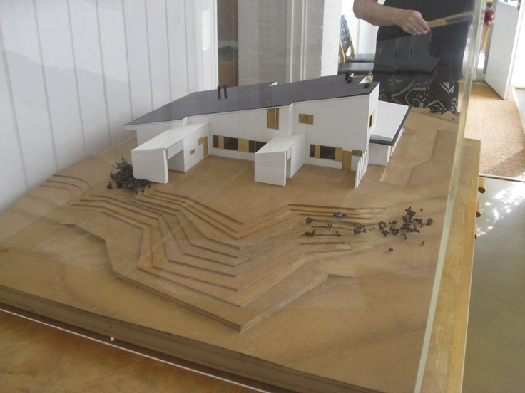 A Model Of Alvar Aalto S Maison Carre In His Studio In