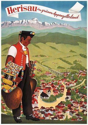 Herisau im grünen Appenzellerland. 1946.