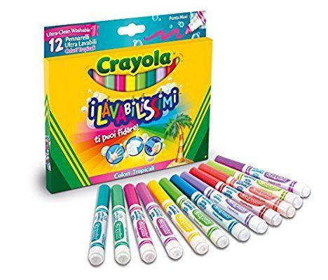 Crayola 58-8335 - I Lavabilissimi 12 Pennarelli, Punta Maxi, Colori Tropicali