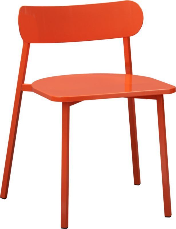 fleet hot orange chair  | CB2