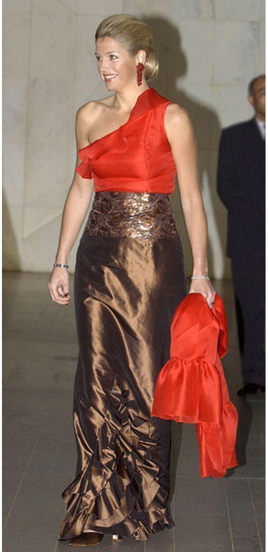 Prinses Maxima op staatsbezoek in Brazilië in 2003.