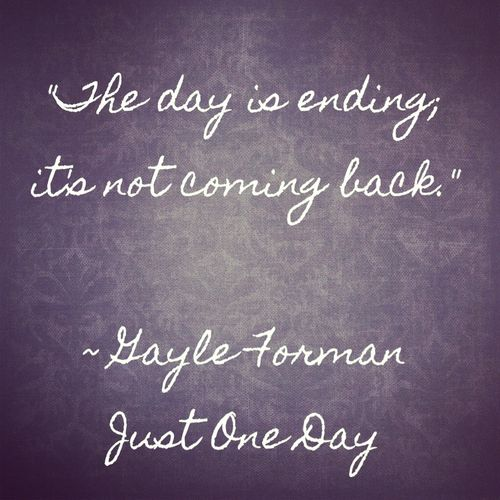 From Just One Day, by Gayle Forman