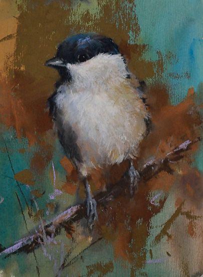 "Marsh Tit by Mike Beeman Pastel ~ 8"" x 6"""