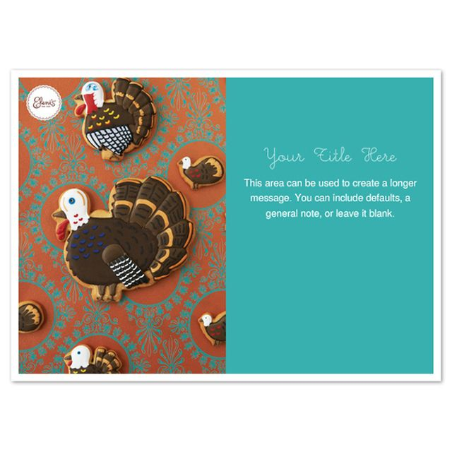Free Thanksgiving Ecards to Send to Friends and Family: Thanksgiving by Eleni's Cookies