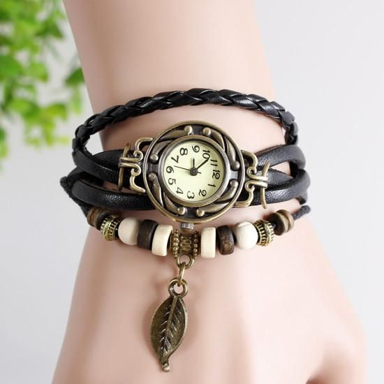 Leaf Vintage Wrap Watch - Ashley Jewels - 7