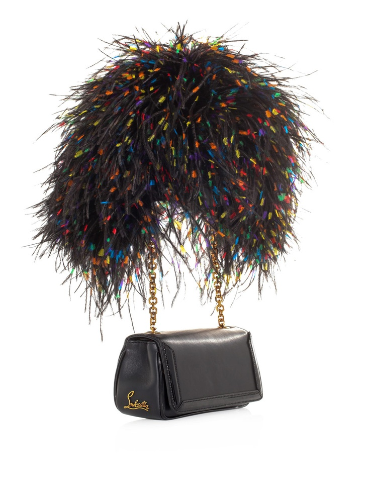 Christian Louboutin artemis leather & ostrich feather bag. What occasion would this NOT belong at??? Answer is none.