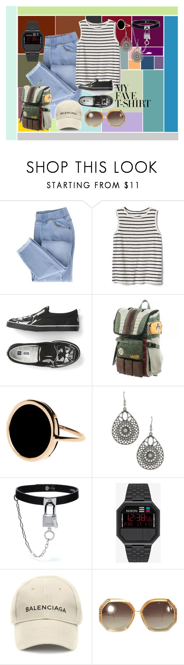 """""""Untitled #143"""" by amor-de-pandicornios on Polyvore featuring Gap, Ginette NY, Balenciaga and Ted Lapidus"""